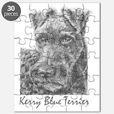 PODO Portraits -- Kerry Blue Terrier Puzzle