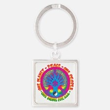 One Planet One People Square Keychain