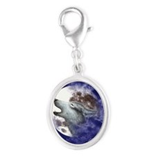 COASTER-ROUND Silver Oval Charm