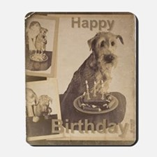 Happy Birthday Irish Terrier 01 Mousepad
