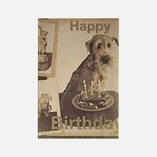 Happy Birthday Irish Terrier 01 Rectangle Magnet