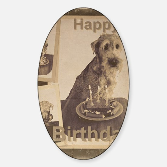 Happy Birthday Irish Terrier 01 Sticker (Oval)