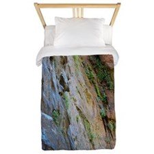 Sandstone cliff in lush canyon Twin Duvet