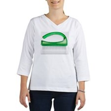 Close-up of a green plastic nai Women's Long Sleeve Shirt (3/4 Sleeve)