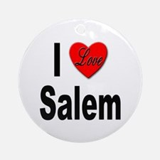 I Love Salem Ornament (Round)
