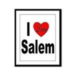 I Love Salem Framed Panel Print