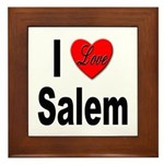 I Love Salem Framed Tile