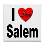I Love Salem Tile Coaster