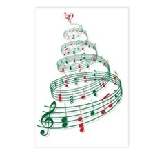 Christmas tree with music Postcards (Package of 8)