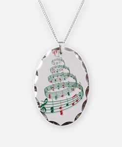 Christmas tree with music note Necklace