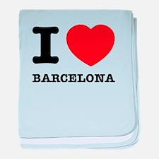 I LOVE Barcelona baby blanket