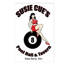 Susie Cue Bar Postcards (Package of 8)