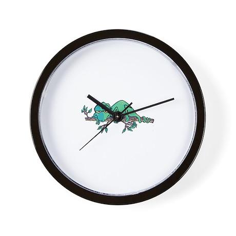 Sleepy Lizard Wall Clock