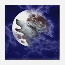 ERGANOMIC_MOUSEPAD_MOON WOLF Tile Coaster