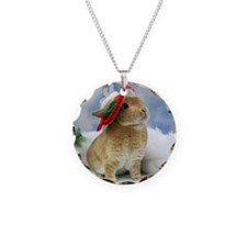 Bunny Christmas Ornament Necklace