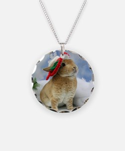 Bunny Christmas Ornament Necklace