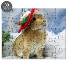 Bunny Christmas Ornament Puzzle