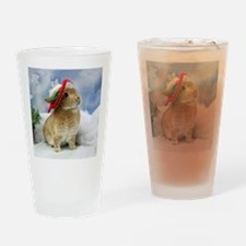 Bunny Christmas Ornament Drinking Glass