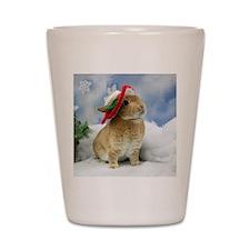 Bunny Christmas Ornament Shot Glass