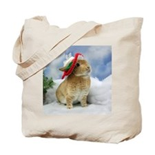 Bunny Christmas Ornament Tote Bag