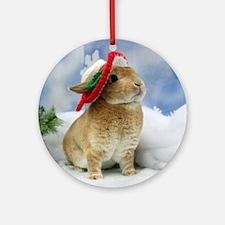 Bunny Christmas Ornament Round Ornament