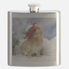 Bunny Christmas Ornament Flask