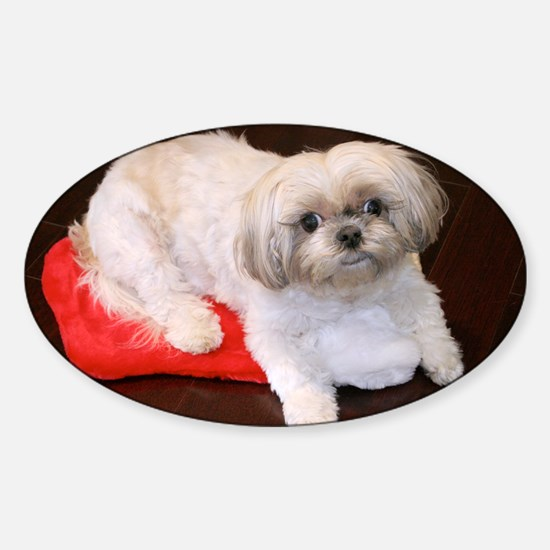 Dog Holiday Ornament Sticker (Oval)