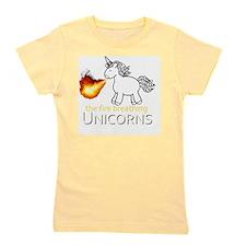 fire breathing unicorns Girl's Tee