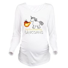 fire breathing unico Long Sleeve Maternity T-Shirt