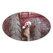 Frohe Weihnachten Irish Terrier Decal
