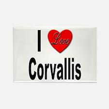 I Love Corvallis Rectangle Magnet