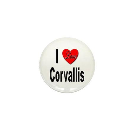 I Love Corvallis Mini Button