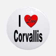 I Love Corvallis Ornament (Round)