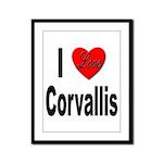 I Love Corvallis Framed Panel Print