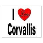 I Love Corvallis Small Poster