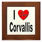 I Love Corvallis Framed Tile