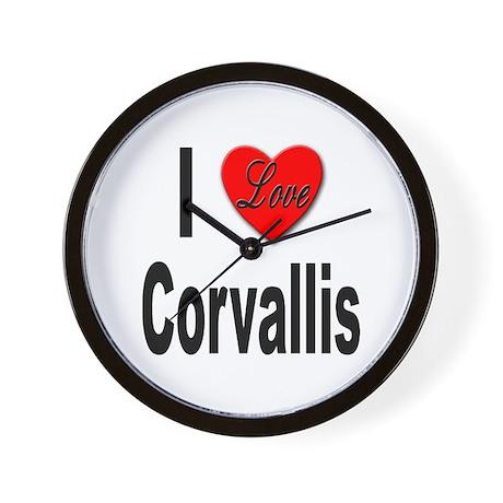 I Love Corvallis Wall Clock