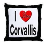 I Love Corvallis Throw Pillow