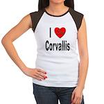 I Love Corvallis (Front) Women's Cap Sleeve T-Shir