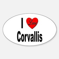 I Love Corvallis Oval Decal