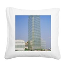 Canary Wharf tower, Docklands Square Canvas Pillow