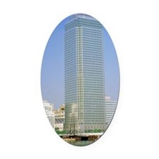 Canary Wharf tower, Docklands Oval Car Magnet