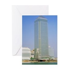 Canary Wharf tower, Docklands Greeting Card