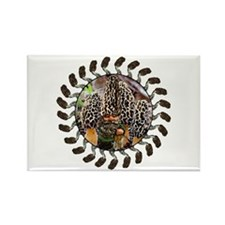 morel and gnome art Rectangle Magnet