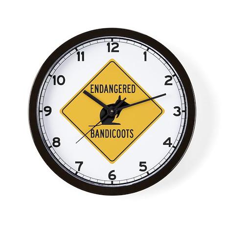 Endangered Bandicoots, Australia Wall Clock