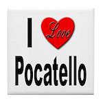 I Love Pocatello Tile Coaster