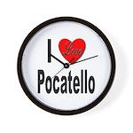 I Love Pocatello Wall Clock