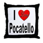I Love Pocatello Throw Pillow