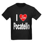 I Love Pocatello (Front) Kids Dark T-Shirt