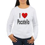 I Love Pocatello (Front) Women's Long Sleeve T-Shi
